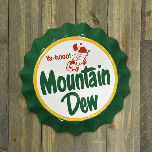 Aluminum Mountain Dew Bottle Cap 12in