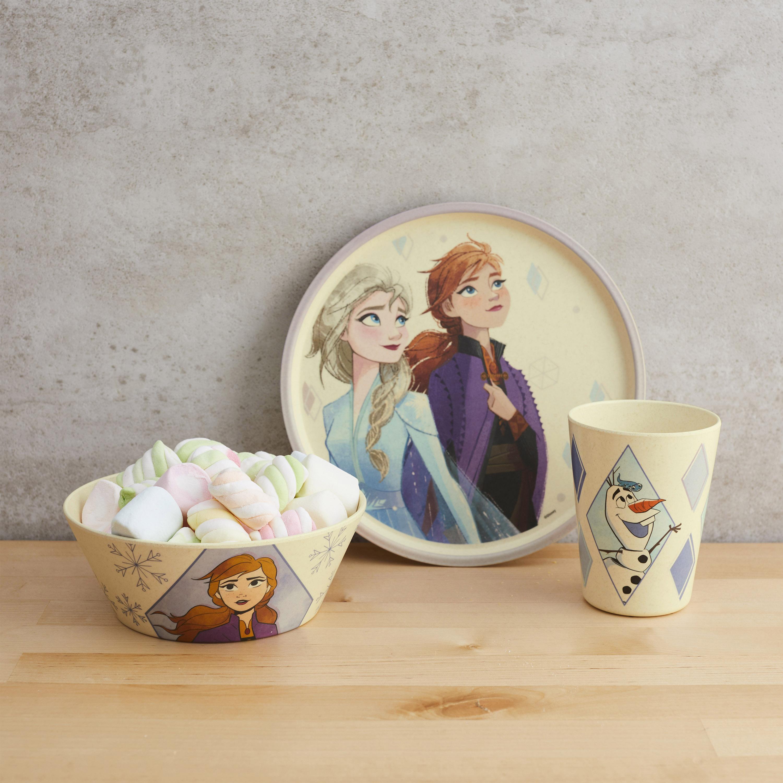 Disney Frozen 2 Movie Kids 3-piece Dinnerware Set, Anna and Elsa, 3-piece set slideshow image 9