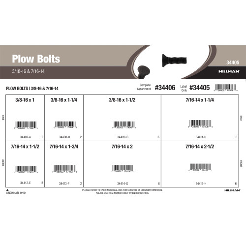 Plow Bolts (3/8