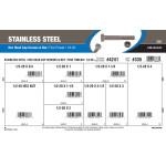 "Stainless Steel Hex Cap Screws & Nut Assortment (1/2""-20 Thread)"