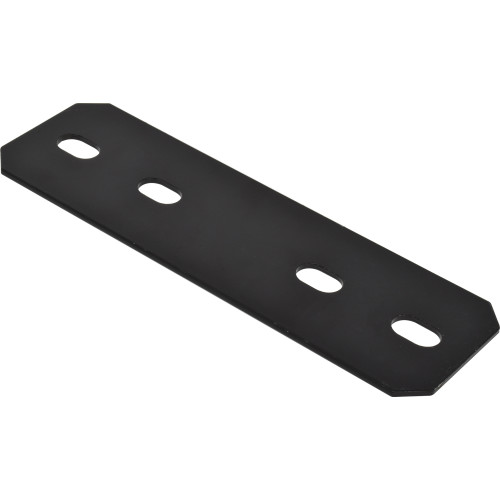 Hardware Essentials Black Heavy Duty Mending Plates (9-1/2