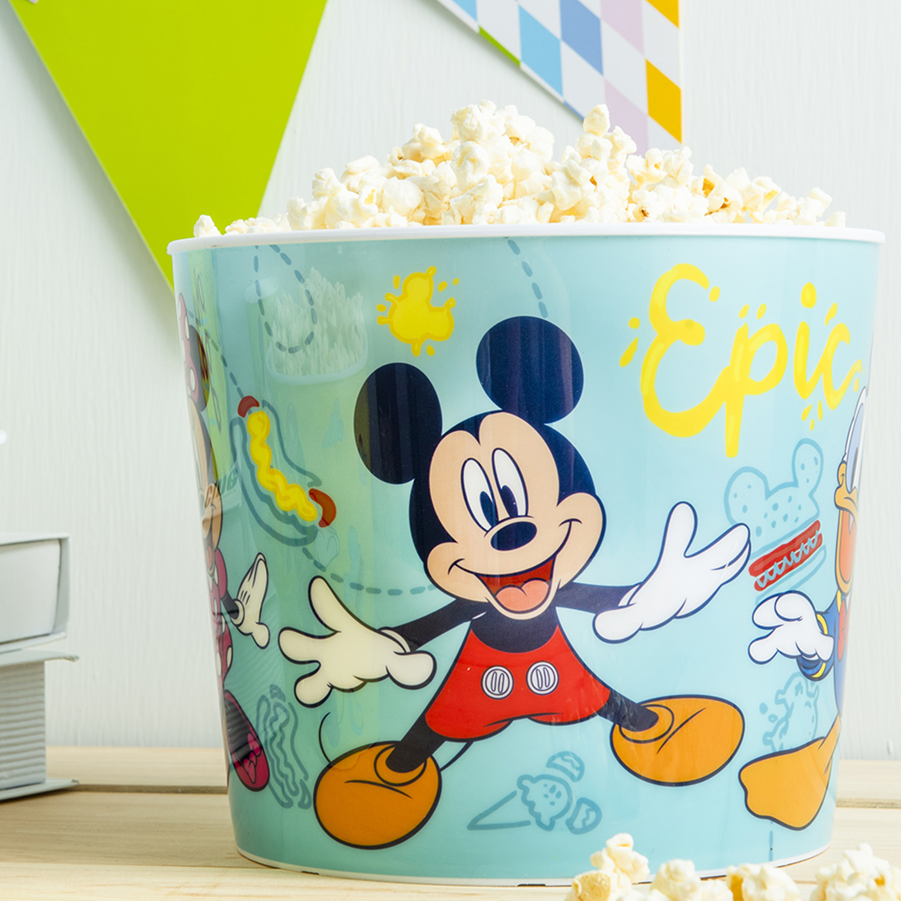 Disney Plastic Popcorn Container and Bowls, Mickey Mouse and Minnie Mouse, 5-piece set slideshow image 5