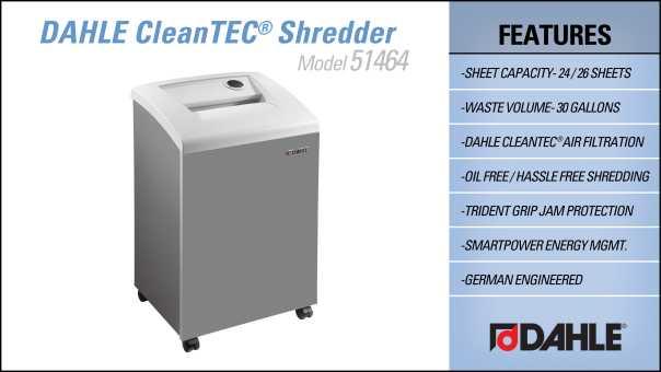 DAHLE CleanTEC® 51464 Office Shredder InfoGraphic