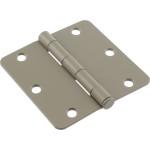 """Hardware Essentials 1/4"""" Round Corner Primecoat Door Hinges (3-1/2"""")"""