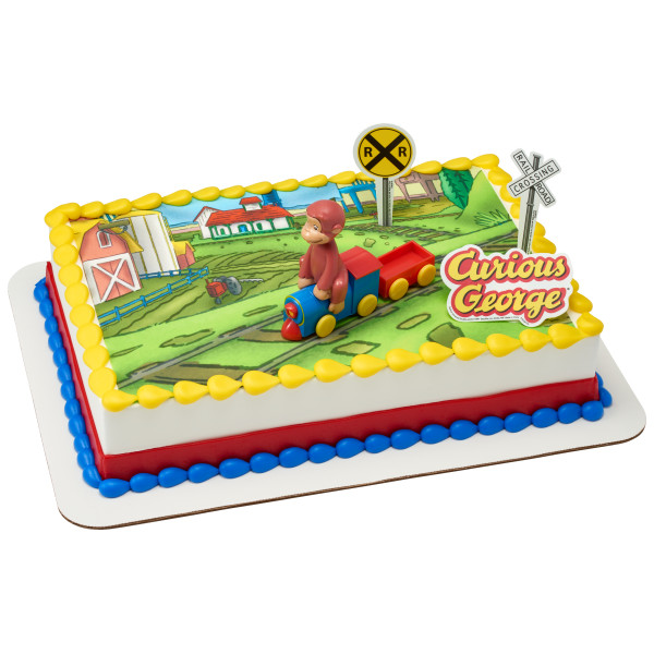 Curious George® Train PhotoCake® Edible Image® DecoSet® Background