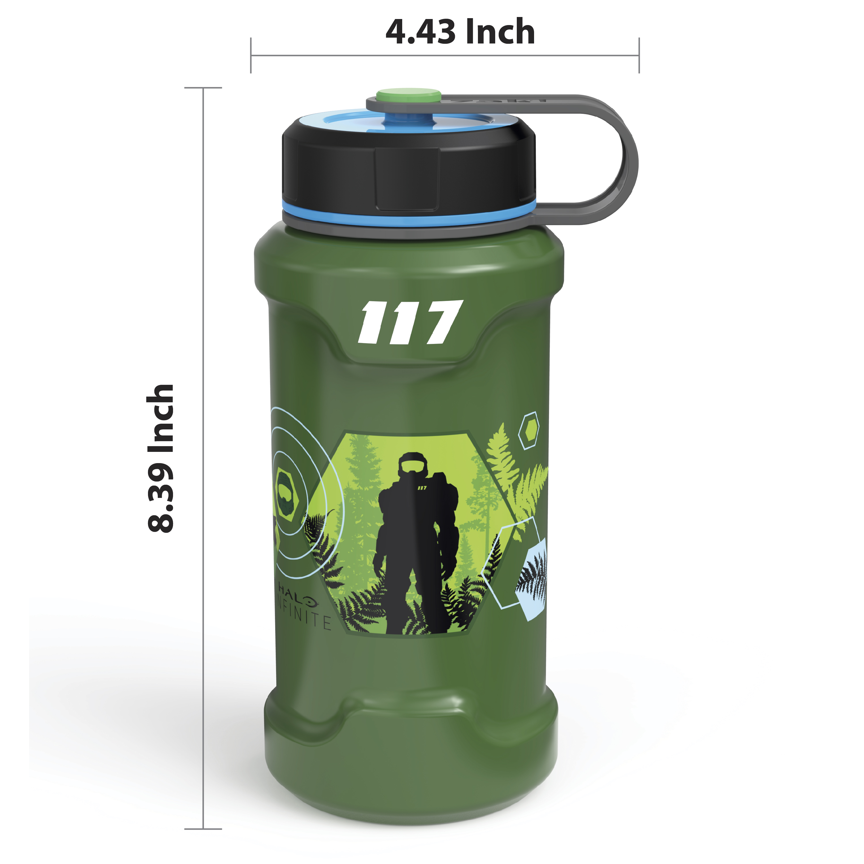 XBOX 24 ounce Stainless Steel Insulated Water Bottle, Halo slideshow image 7