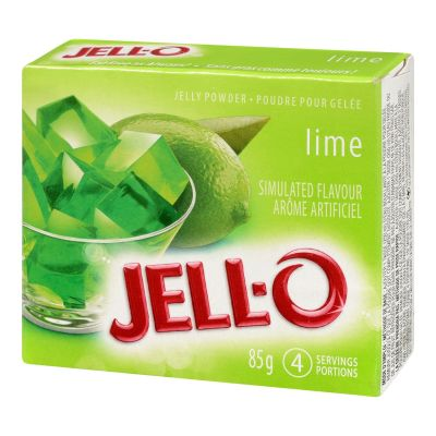 Jell-O Lime Jelly Powder, Gelatin Mix