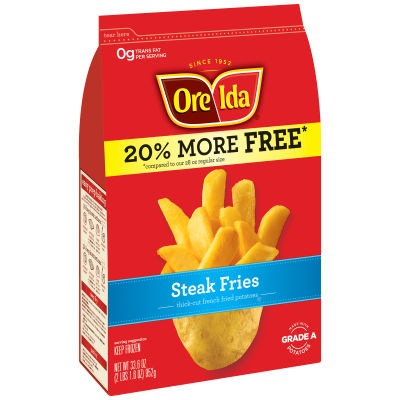 Ore-Ida Steak Fries Thick-Cut French Fried Potatoes 33.6 oz Bag