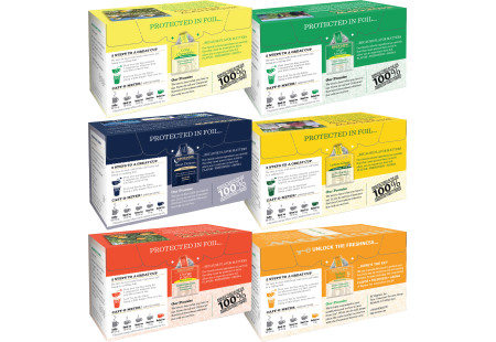 Back panels of Mixed Case of Herbal Teas - 6 boxes