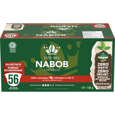 Nabob 100% Colombian 56 ct Single Serve Coffee Pods