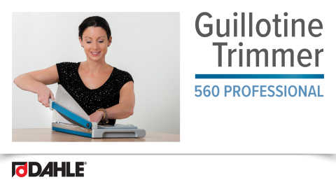 Dahle 560 Professional Guillotine Video
