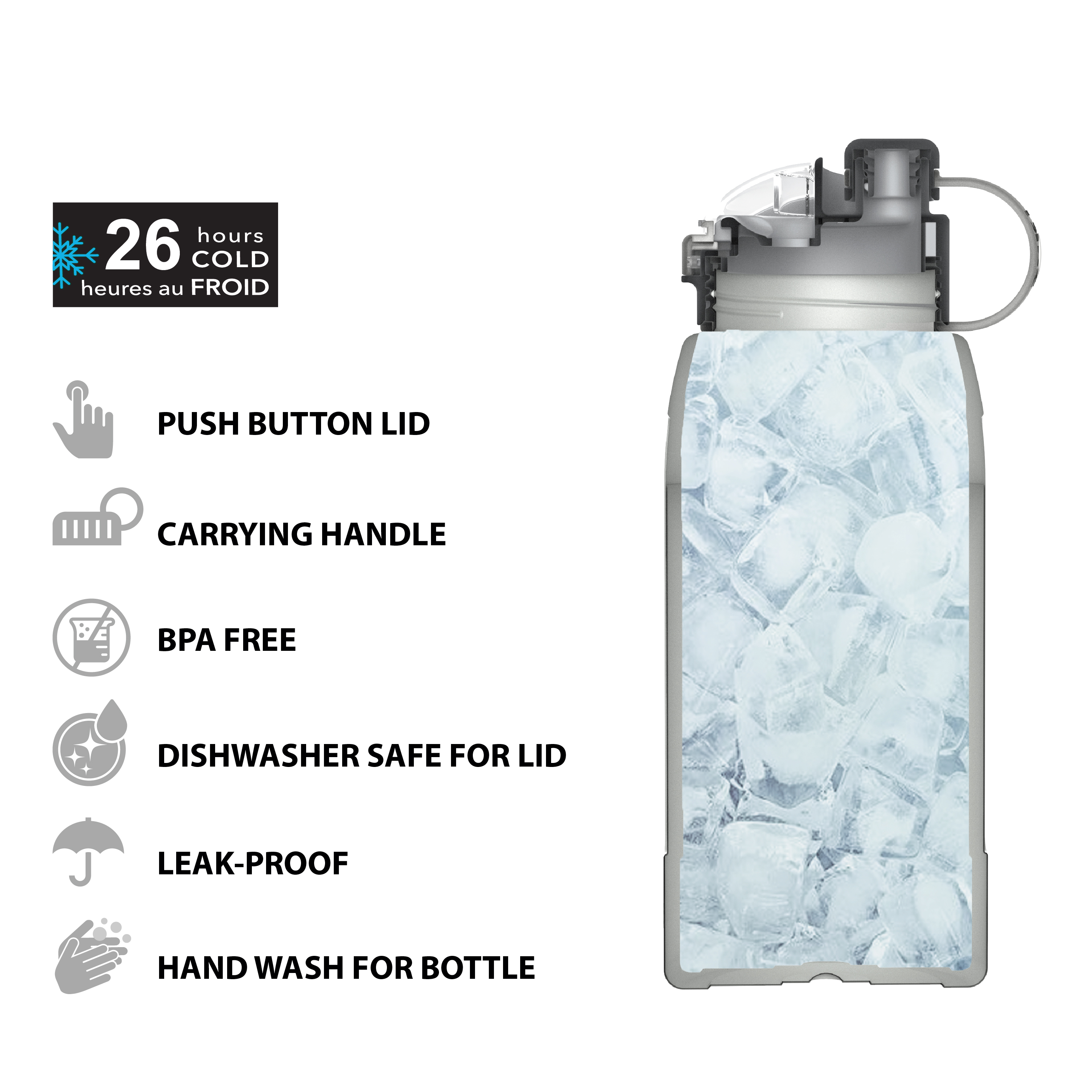 Genesis 32 ounce Vacuum Insulated Stainless Steel Tumbler, Lilac slideshow image 12