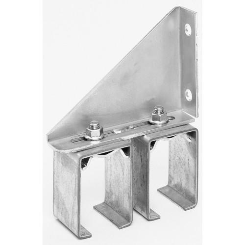 Hillman Galvanized Box Rail Bracket Face Mount Double Splice Adjustable