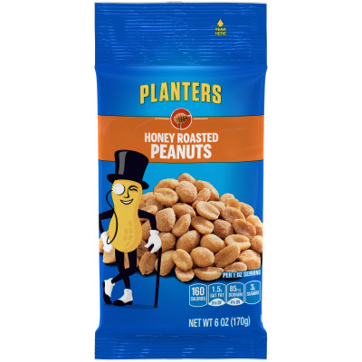 Planters Dry Roasted Honey Roasted Peanuts 6 oz Bag