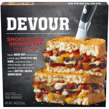 Devour Smokehouse Angus Beef Grilled Cheese Frozen Dinner, 7.4 oz Box