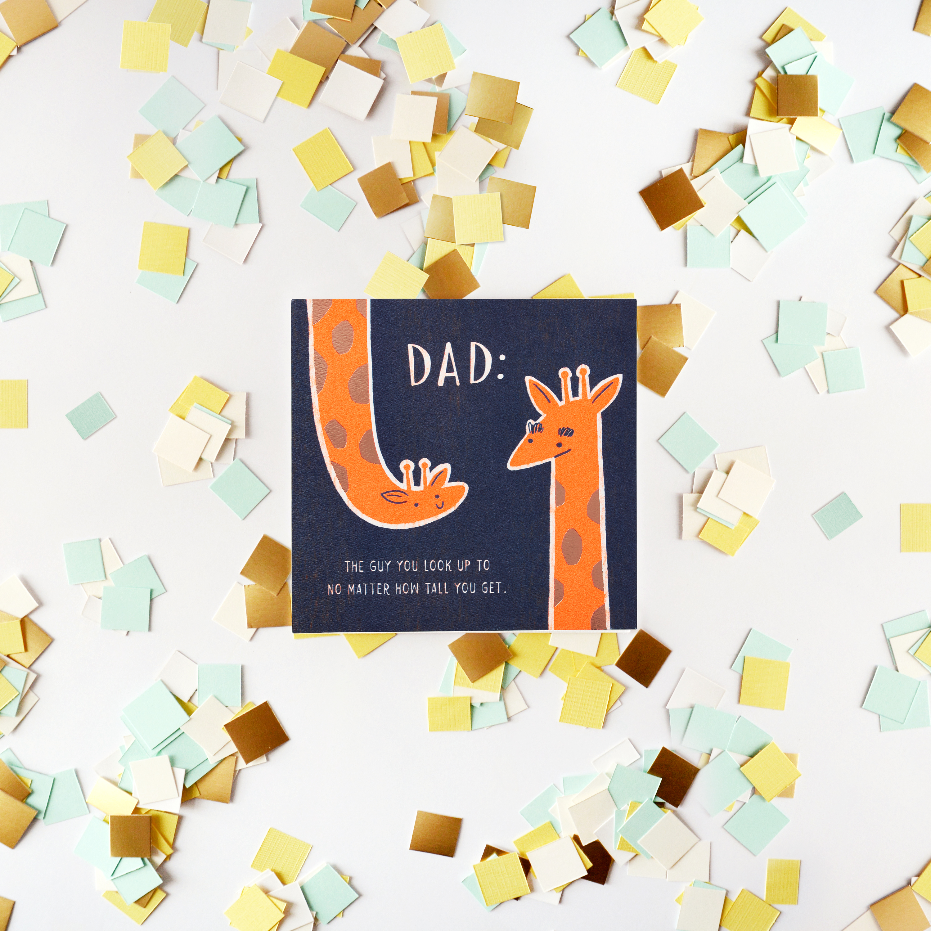Giraffe Father's Day Card image
