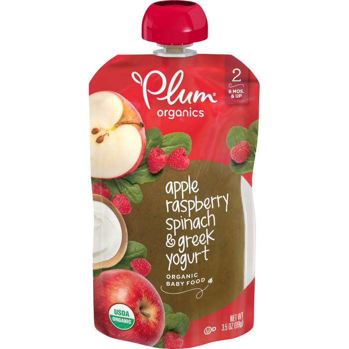 Apple, Raspberry, Spinach & Greek Yogurt Baby Food