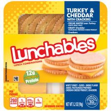 Oscar Mayer Lunchables Turkey & Cheddar with Crackers 3.2 oz Tray