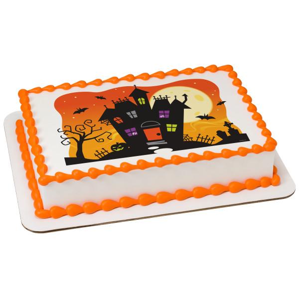 Spooky Haunted House PhotoCake® Edible Image®