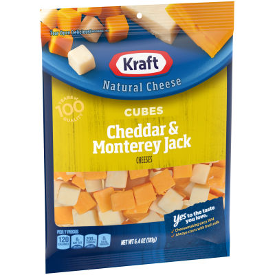 Kraft Cheddar & Monterey Jack Natural Cheese Cubes 6.4 oz Bag