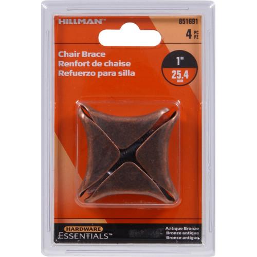Hardware Essentials Chair Brace Antique Bronze 1
