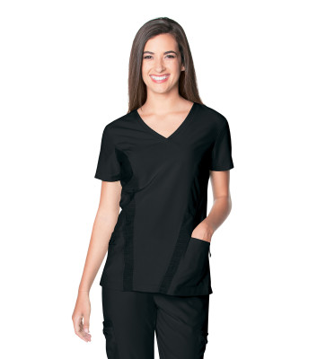 Urbane Performance V-Neck Scrub Top for Women: 2 Pocket, Modern Tailored Fit, Extreme Stretch Moisture Wicking Medical Scrubs 9061-