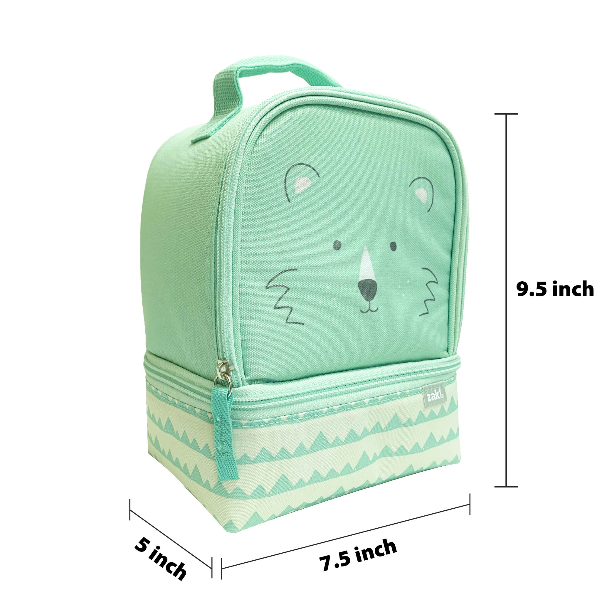 Soft Lines 2-compartment Reusable Insulated Lunch Bag, Teddy Bears slideshow image 5