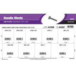 "Zinc-plated Handle Rivets Assortment (5/16"" & 3/8"" Diameters)"