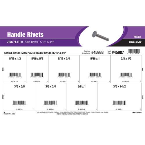 Zinc-plated Handle Rivets Assortment (5/16