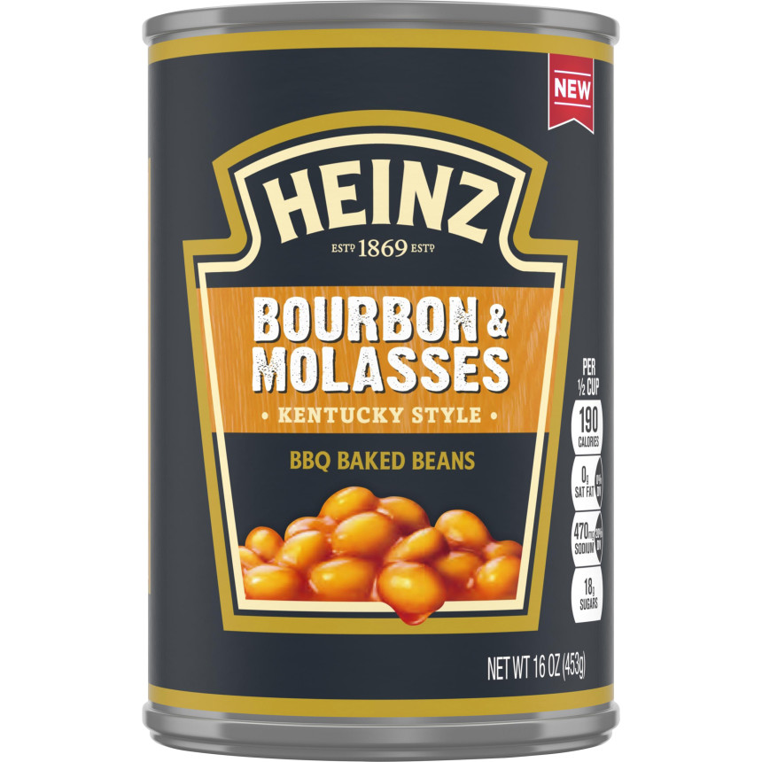 Heinz Kentucky Style Bourbon & Molasses BBQ Baked Beans, 16 oz Can image