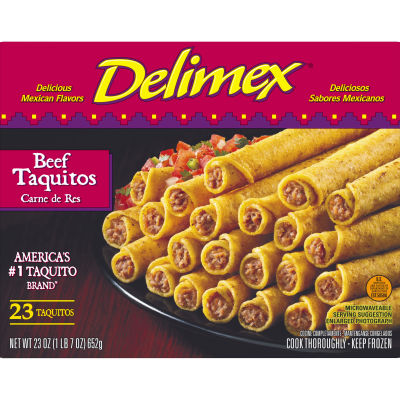 Delimex Beef Taquitos 23 count Box