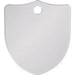 Chrome Small Shield Quick-Tag