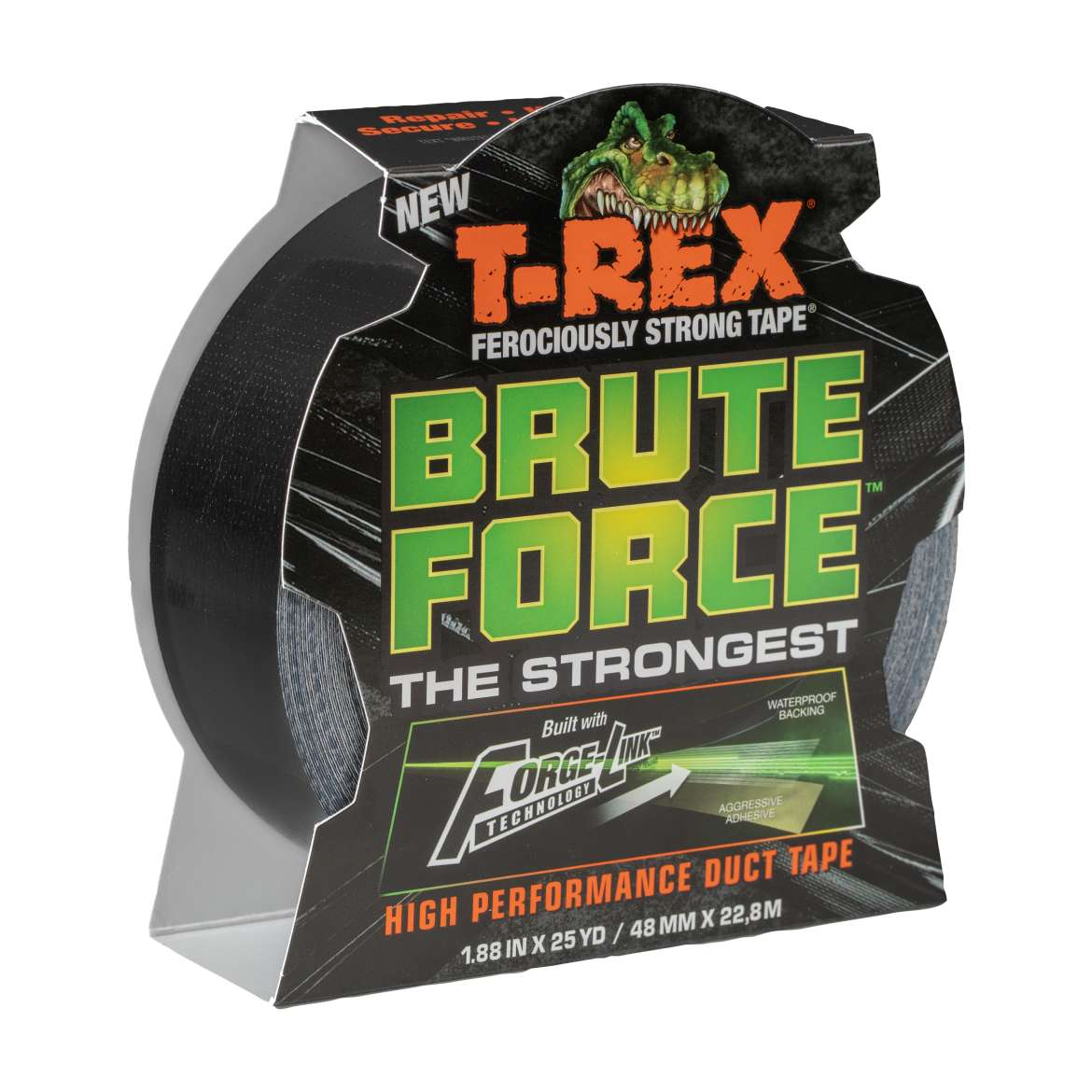 T-Rex® Brute Force® - Black, 1.88 in. x 25 yd.