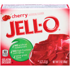 Jell-O Cherry Gelatin Mix 3 oz Box