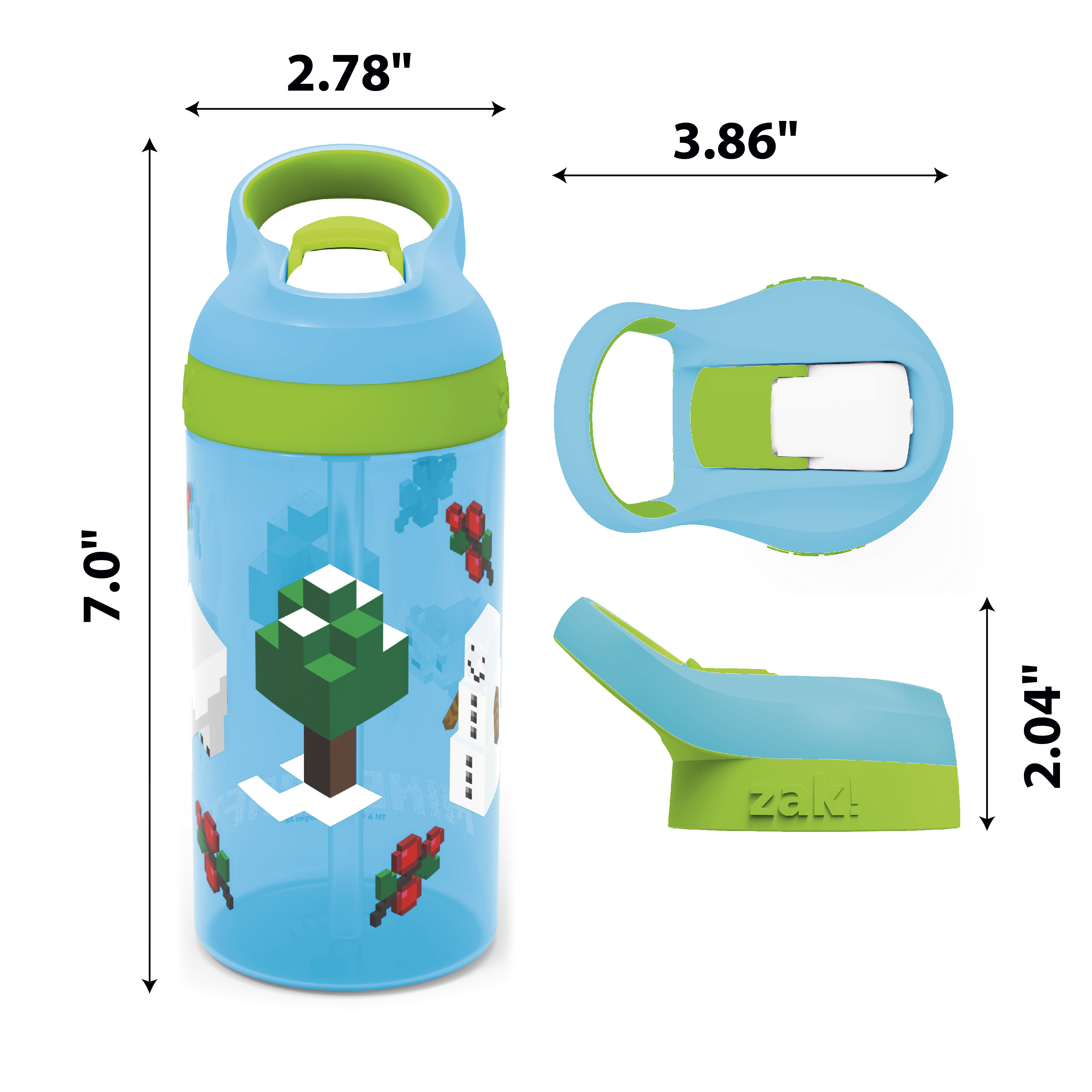 Minecraft 16 ounce Water Bottle, Assorted Minecraft Characters slideshow image 7