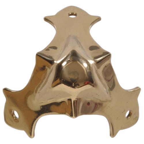 Hardware Essentials Decorative Corner Braces Brite Brass 7/16