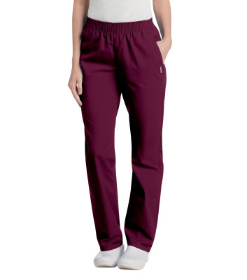 Landau Essentials Scrub Pants for Women: Classic Relaxed Fit Pull-on with Elastic Waist, Straight Leg, 2 Pockets 8327-