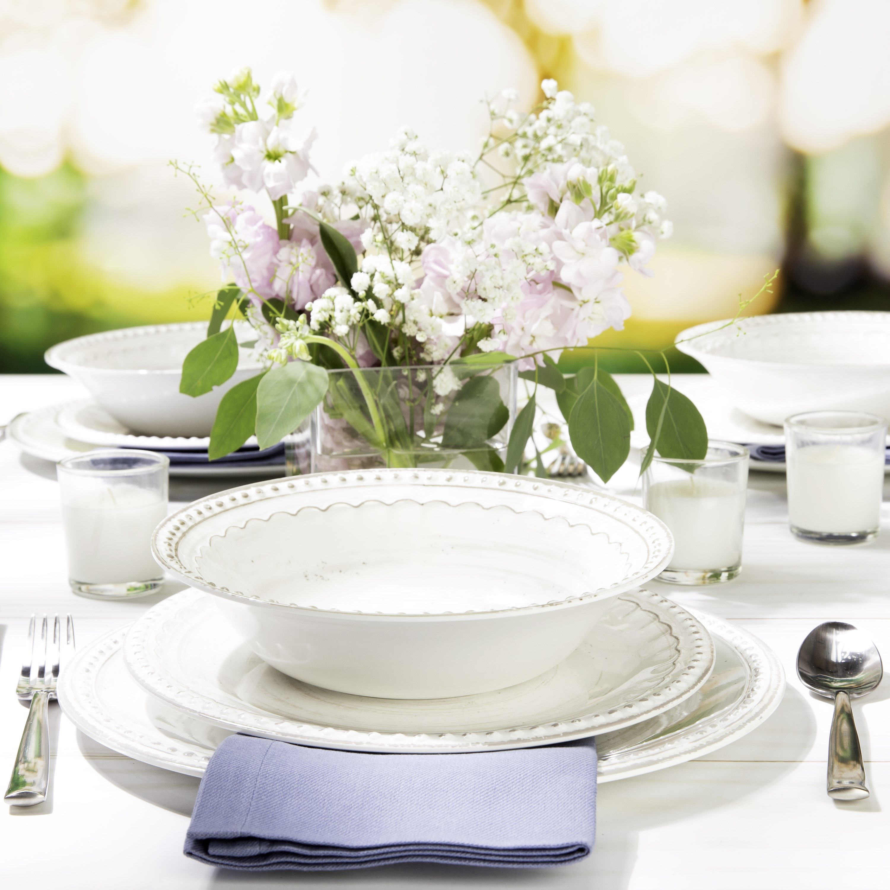 French Country Plate & Bowl Sets, White, 12-piece set slideshow image 10
