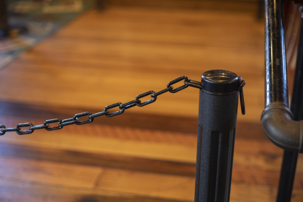 ChainBoss Stanchion - Black Filled with Black Chain 35