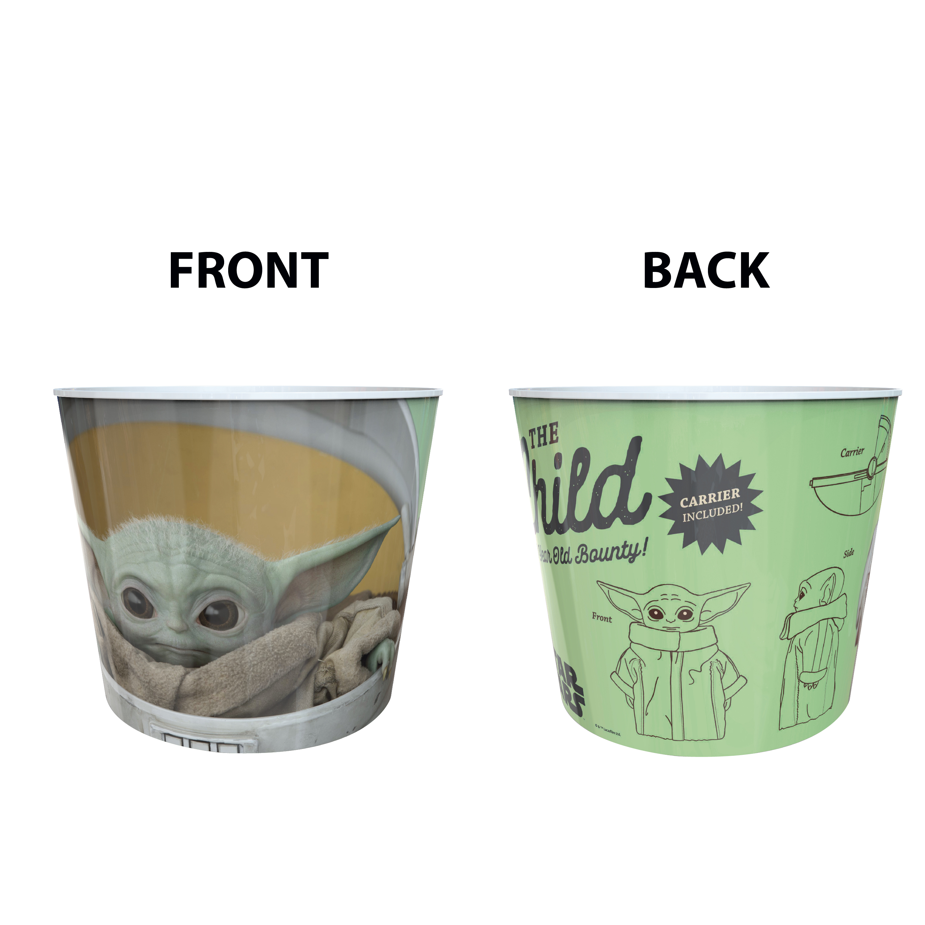 Star Wars: The Mandalorian Plastic Popcorn Container and Bowls, The Child (Baby Yoda), 5-piece set slideshow image 10