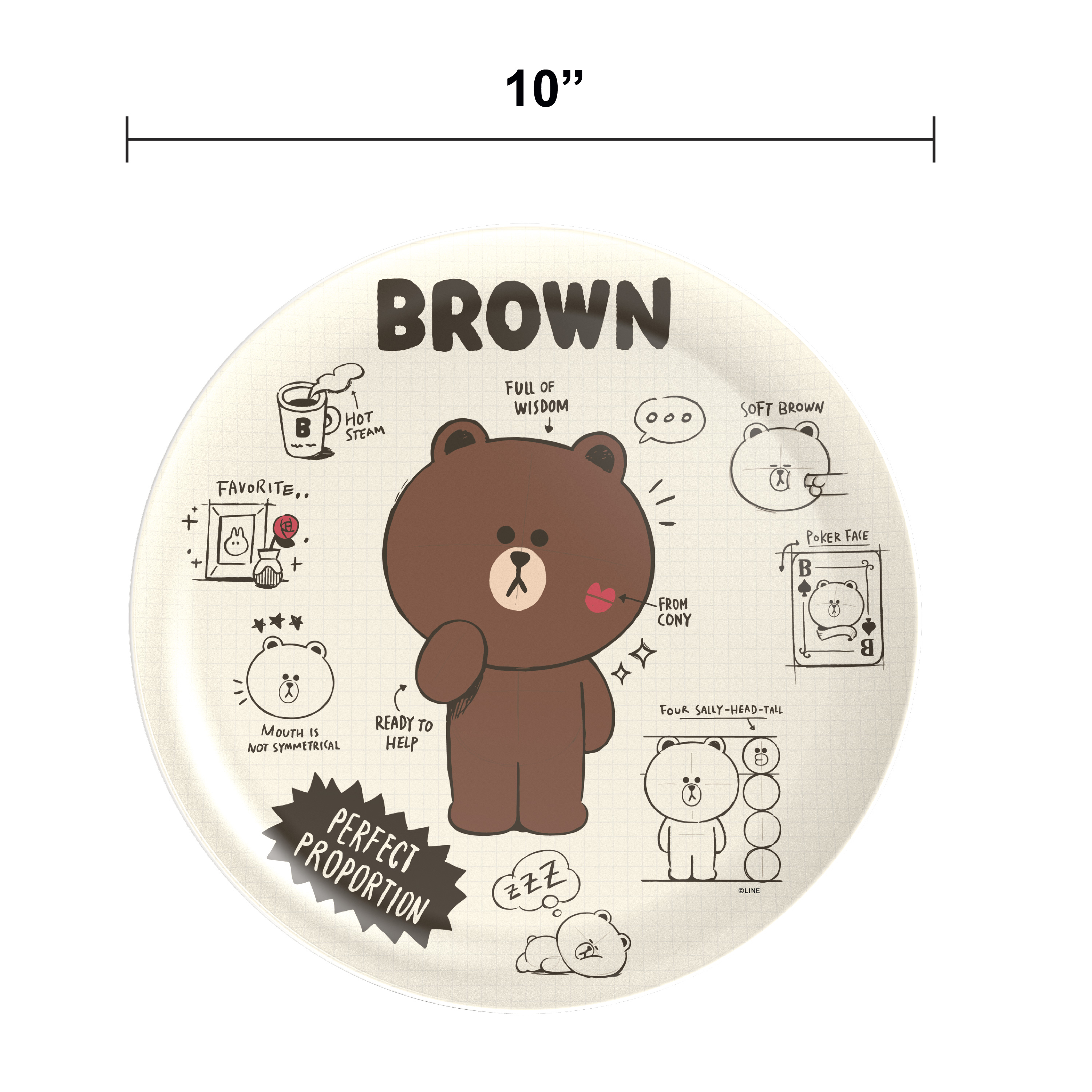 Line Friends Dinnerware Set, Teddy Bear, 2-piece set slideshow image 8
