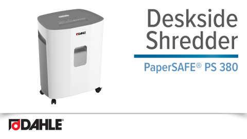 PaperSAFE® PS 380 Deskside Shredder Video