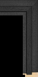Shutter Black w/Grain 2' 3/8