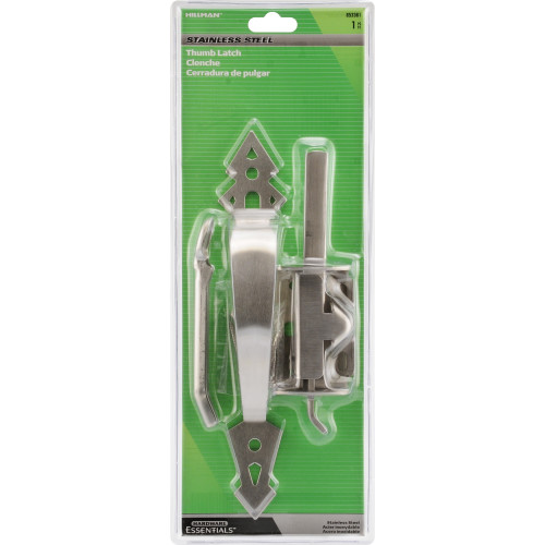 Hardware Essentials Stainless Steel Heavy Duty Ornamental Thumb Latch - In-Swinging & Out-Swinging Gates up to 3