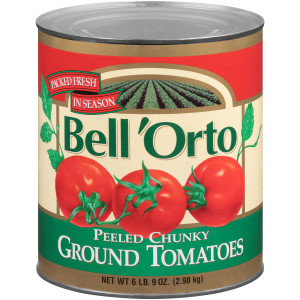 BELL ORTO Peeled Chunky Ground Tomatoes, 105 oz. Can (Pack of 6) image