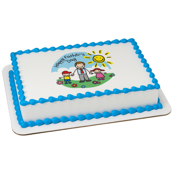 Happy Father's Day PhotoCake® Edible Image®