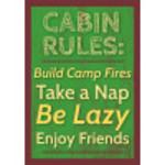 "Aluminum Cabin Rules Sign 10"" x 14"""