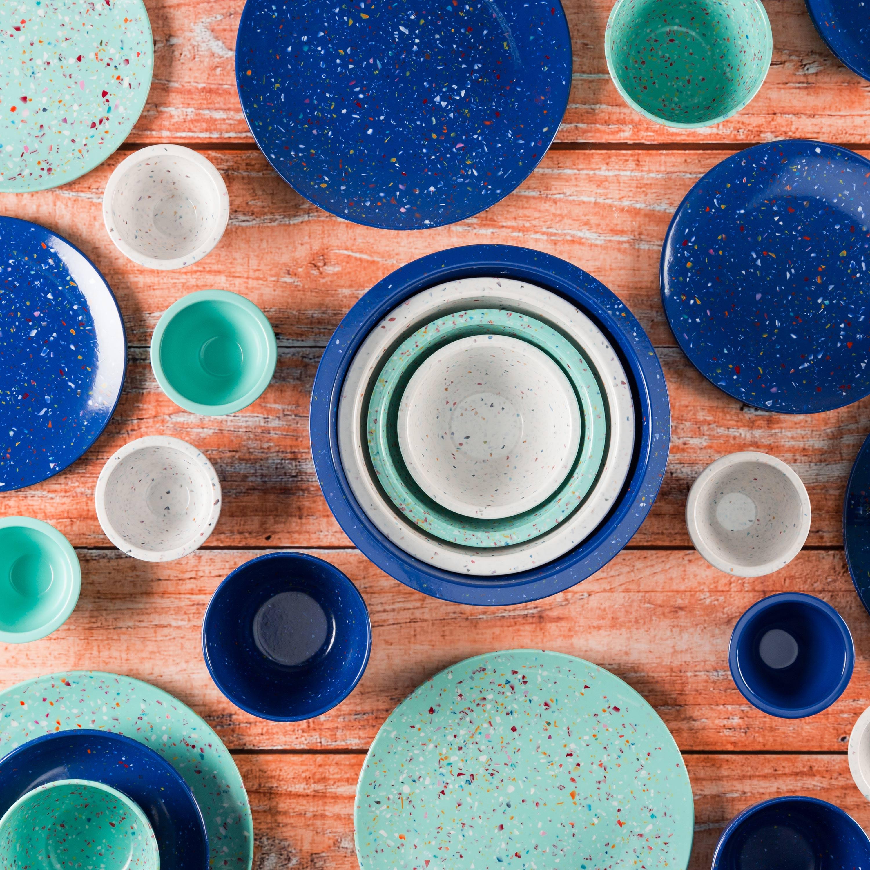 Confetti Salad Plate, Mint, 6-piece set slideshow image 4