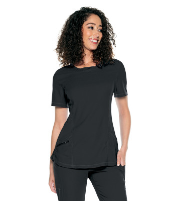 Urbane Align 3 Pocket Scrub Top for Women: Contemporary Slim Fit, Super Stretch, Crew Neck Medical Scrubs 9166-Urbane
