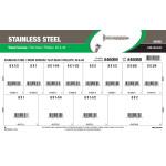 Phillips Flat-Head Stainless Wood Screws Assortment (#6 & #8)